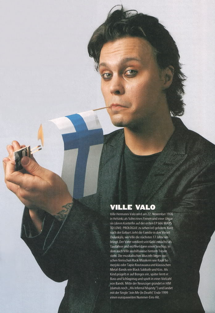 Pure Ville... - Ville Valo Photo (11539199) - Fanpop