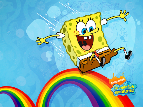 Spongebob Squarepants wallpaper entitled Rainbow
