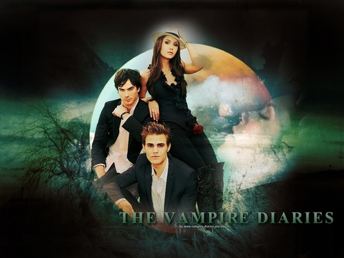 Stefan, Elena, and Damon