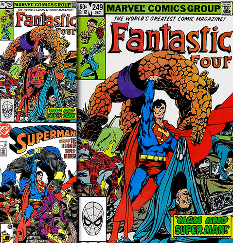 Superman v Fantastic Four