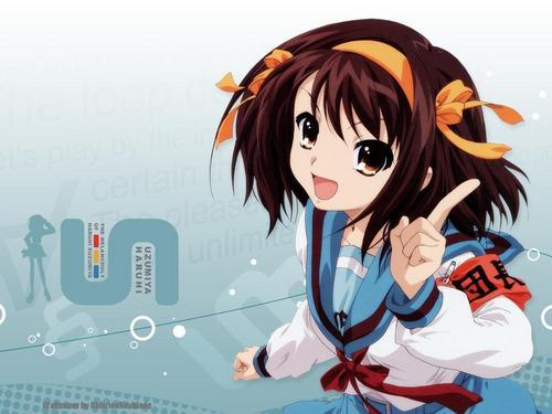 Suzumiya Haruhi being cute