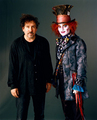 Tim Burton and Johnny Depp - alice-in-wonderland-2010 photo