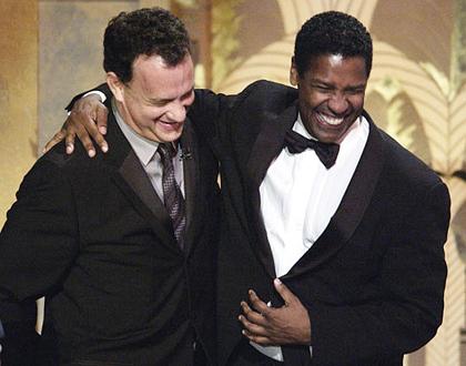 Tom Hanks achtergrond titled Tom and Denzel