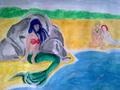 Unhappy mermaid