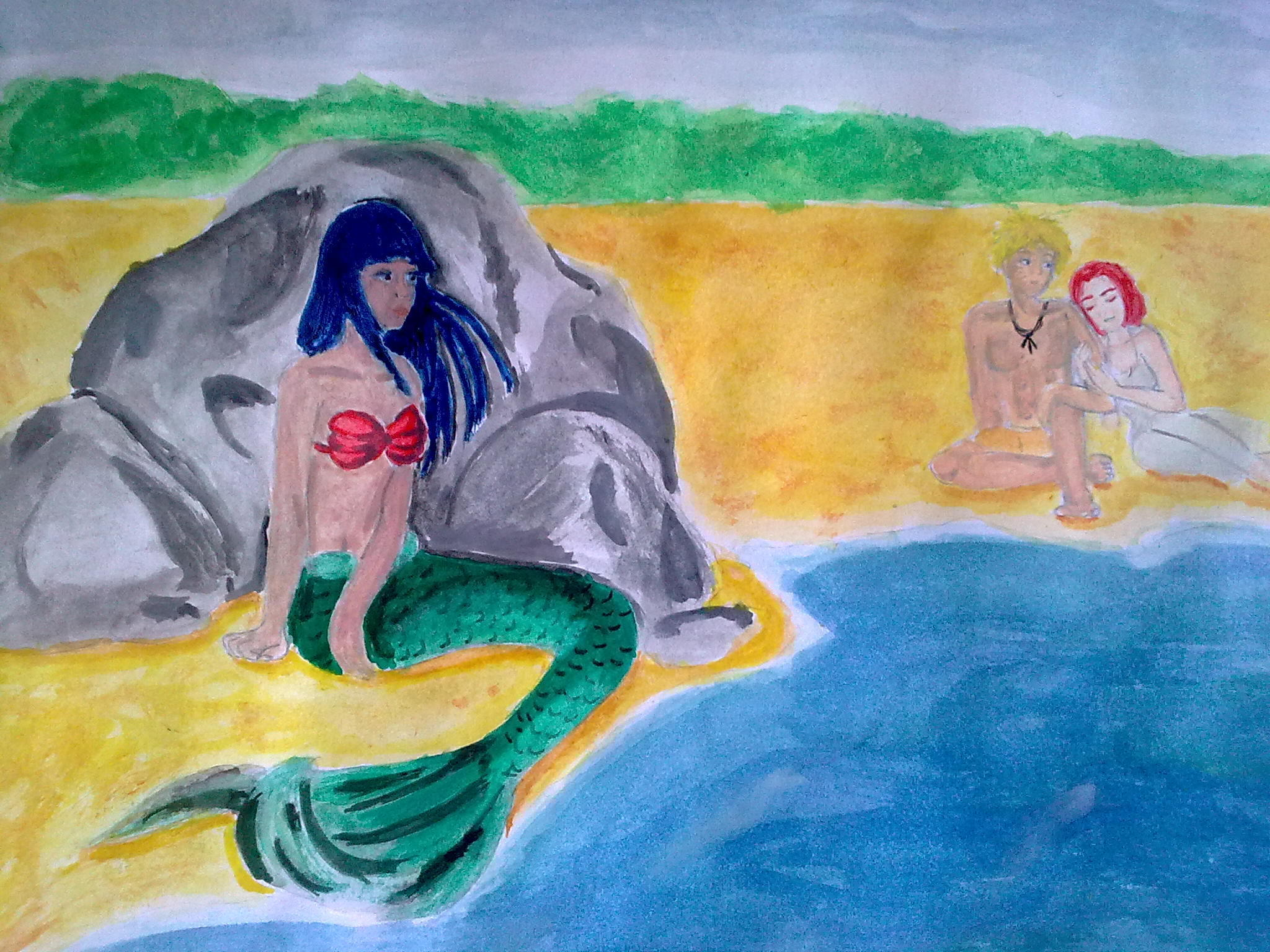 Unhappy mermaid