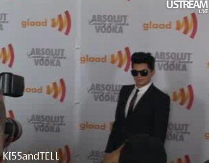 adam lambert at GLAAD awards