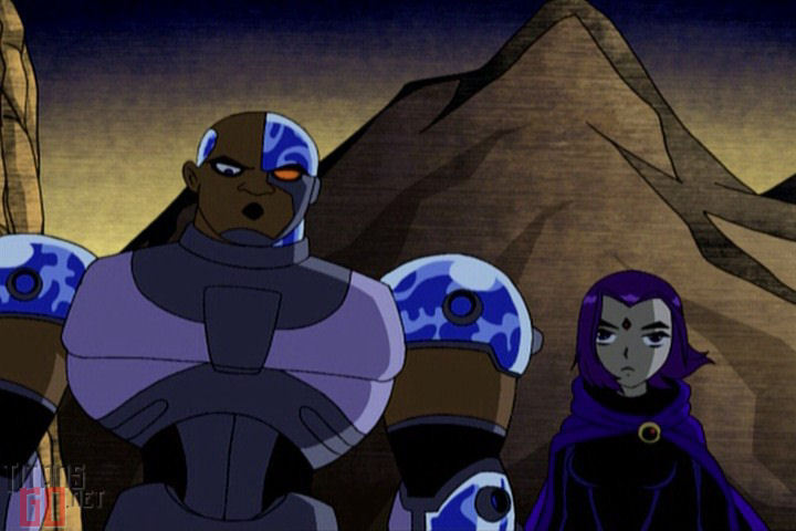 cyborg and raven