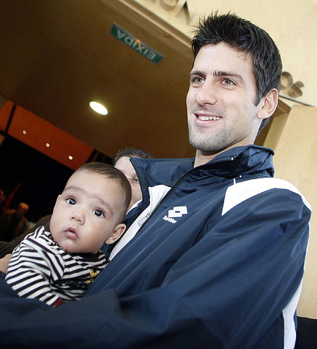 Novak Djokovic hình nền entitled djoko and baby