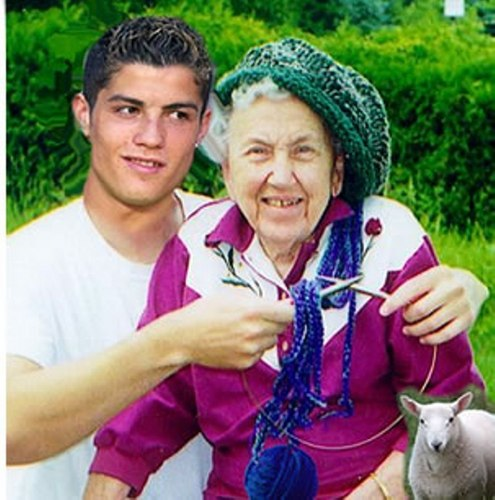 ronaldo and grandmother - cristiano-ronaldo Photo