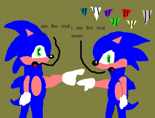 Shadow The Hedgehog wallpaper titled whos the real sonic
