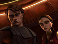 Anakin Skywalker with his secret Girlfriend - clone-wars-anakin-skywalker photo