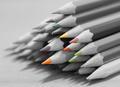 B&W colored pencils