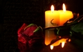 By Candle Light - candles wallpaper