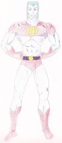 Captain Planet drawn