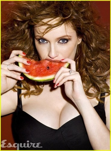 Christina Hendricks wallpaper entitled Christina Hendricks: Watermelon Sexy