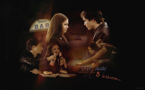 Damon And Elena 壁紙