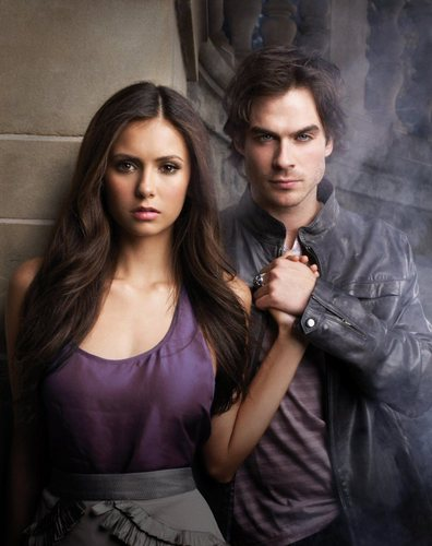 Ian Somerhalder and Nina Dobrev wallpaper called Damon and Elena promo pic