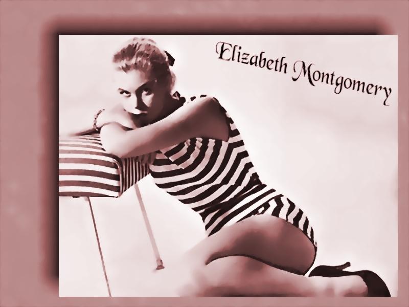 Elizabeth Montgomery zwempak, badpak