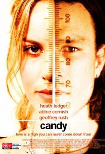 Heath Ledger & Abbie Cornish in a rare 캔디 Poster.