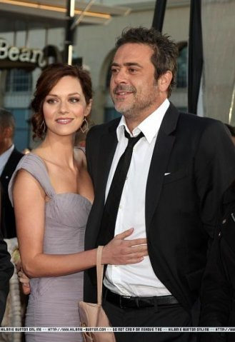 "Hilarie burton and Jeffrey Dean morgan at ""The Losers"" premiere on April 20, 2010 in Los Angeles"