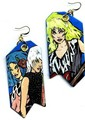 Jem and misfits painted earrings