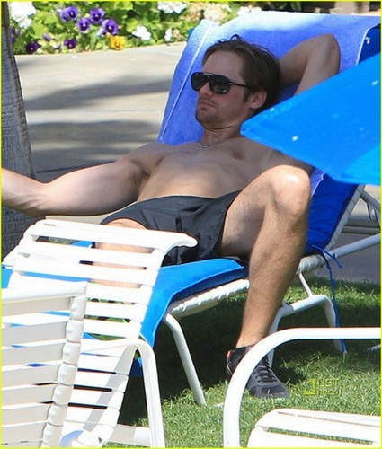 Kate Bosworth &amp; Alexander Skarsgard: Poolside PDA - alexander-skarsgard Photo