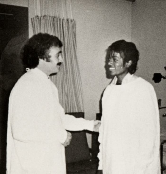 MJ at the hospital 1984