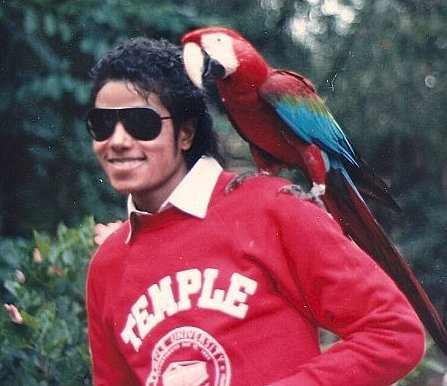MJ with animali