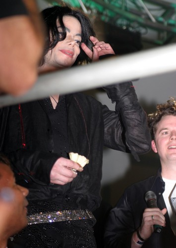 Michael at Aron Carter Birthday paty HQ
