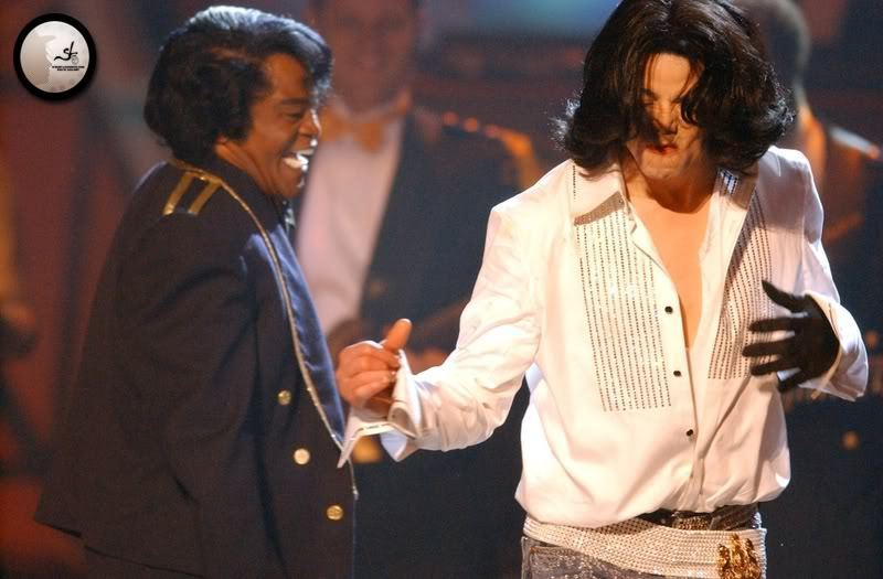 Michael with James Brown