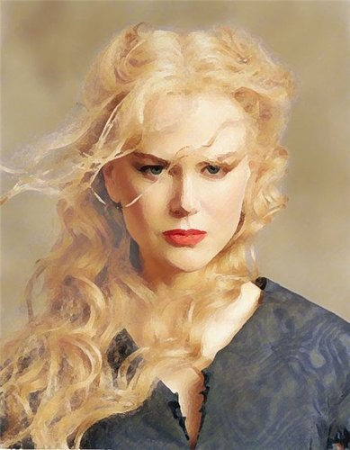 Drawing wallpaper titled Nicole Kidman
