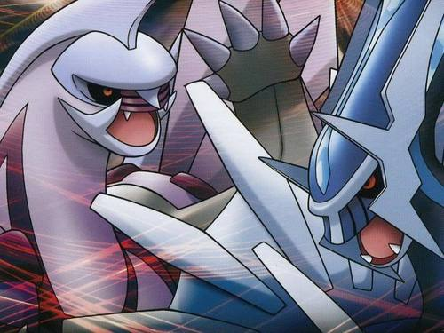 Palkia And Dialga Battling