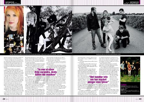 Paramore: Piraja (Swedish) magazine