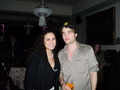 Rob and a shabiki at Lizzy Pattinson's onyesha tonight - April 22nd