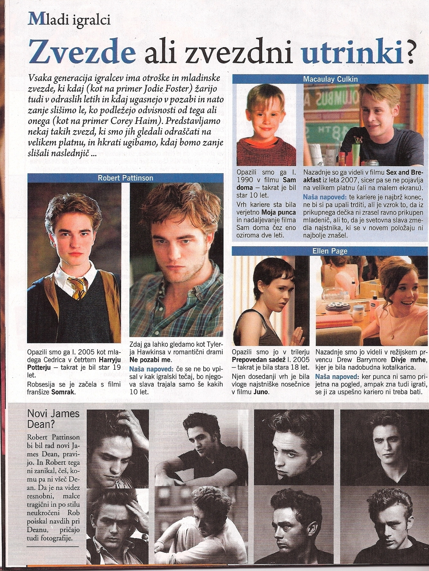 Robert Pattinson: Vikend (Eslovênia), Abril 2010
