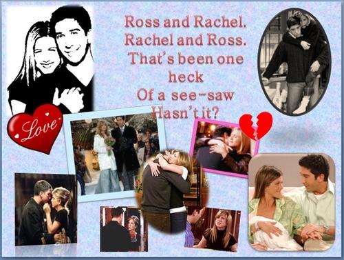 Friends wallpaper entitled Ross and Rachel.