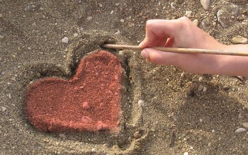 Sandy tim, trái tim