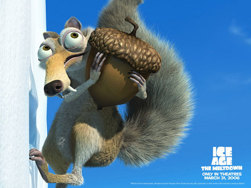 Scrat in Ice Age the Meltdown