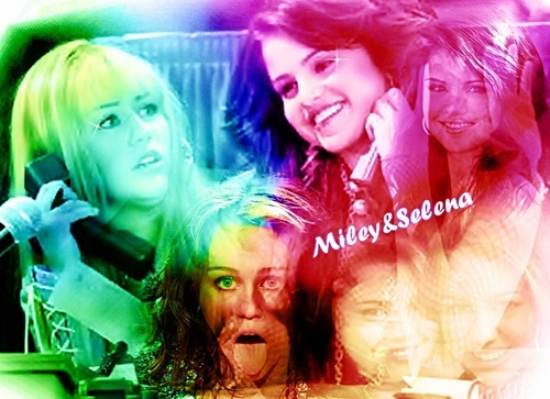 Miley Cyrus vs. Selena Gomez wallpaper called Selena&Miley