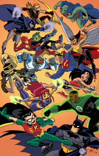 Teen Titans and the Justice League