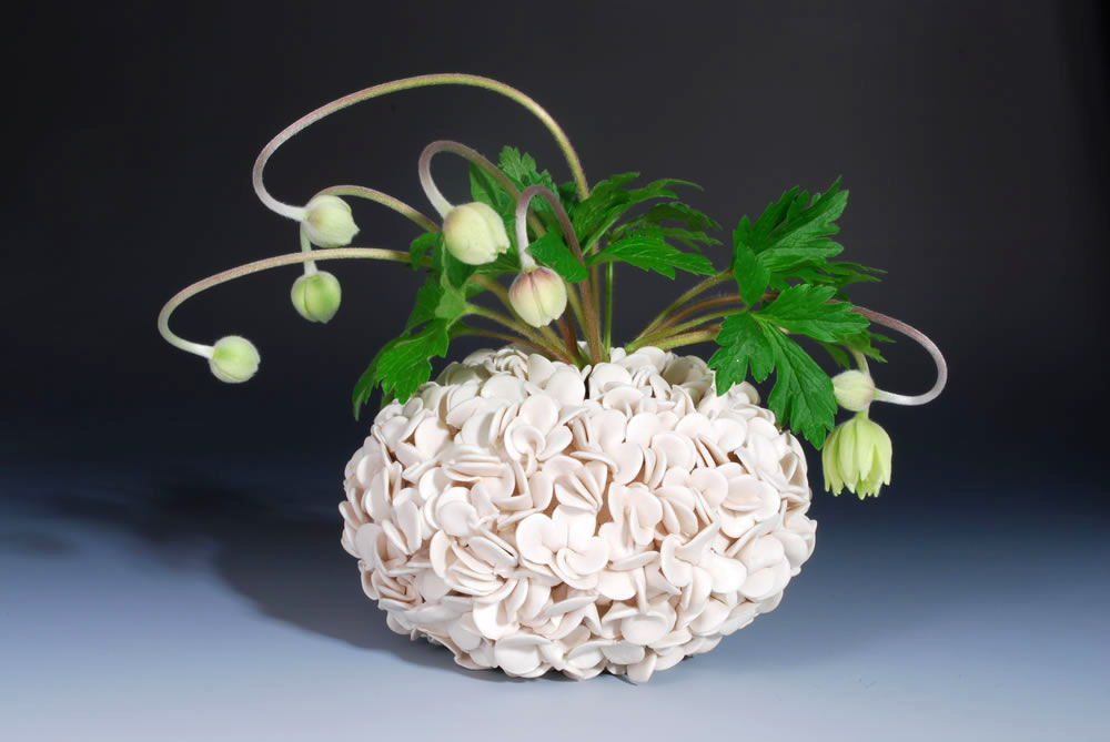 Thousand petal vase handmade ceramics - Home Decorating Photo ...