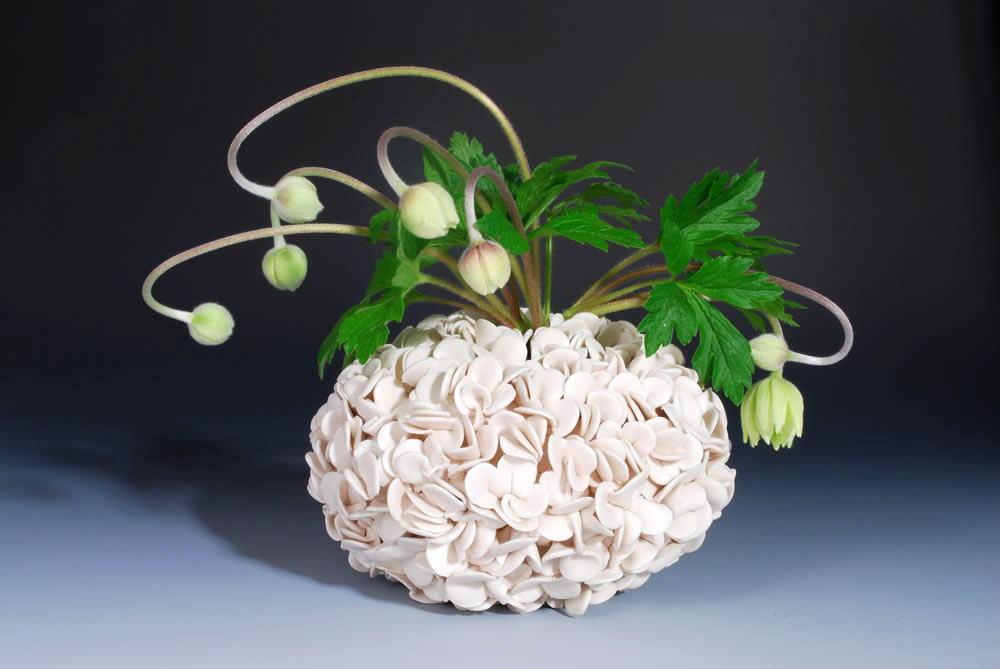 Thousand petal vase handmade ceramics