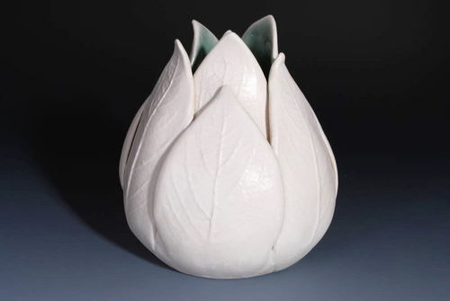 Home Decorating wallpaper entitled Tulip vase handmade ceramics