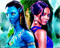 Zoe &amp; Neytiri :) - avatar wallpaper