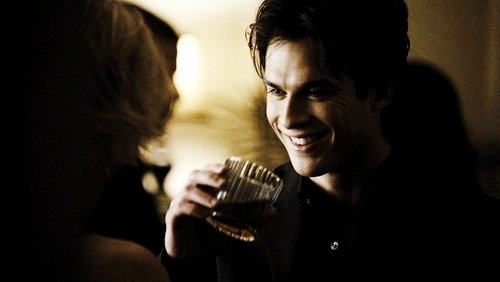 Damon Salvatore wallpaper entitled damon's smile