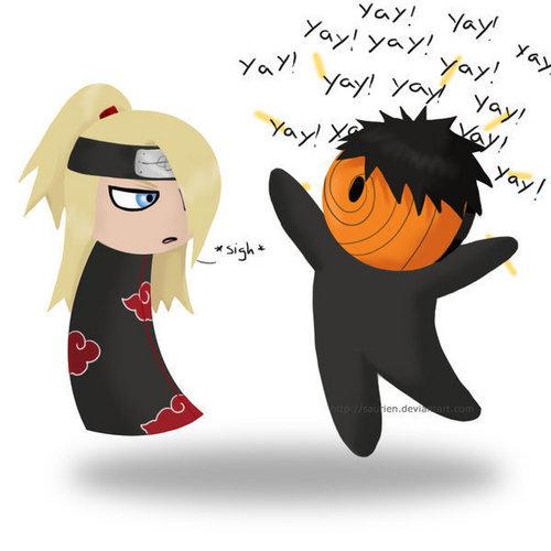 tobi and deidara <3