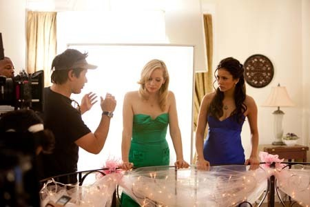 """Miss Mystic Falls"" Behind the scenes."