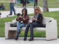 26/04/2010 - David, Natasha and the rest at Californication Set - californication photo