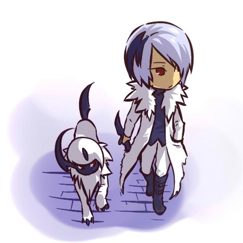 Absol and trainer