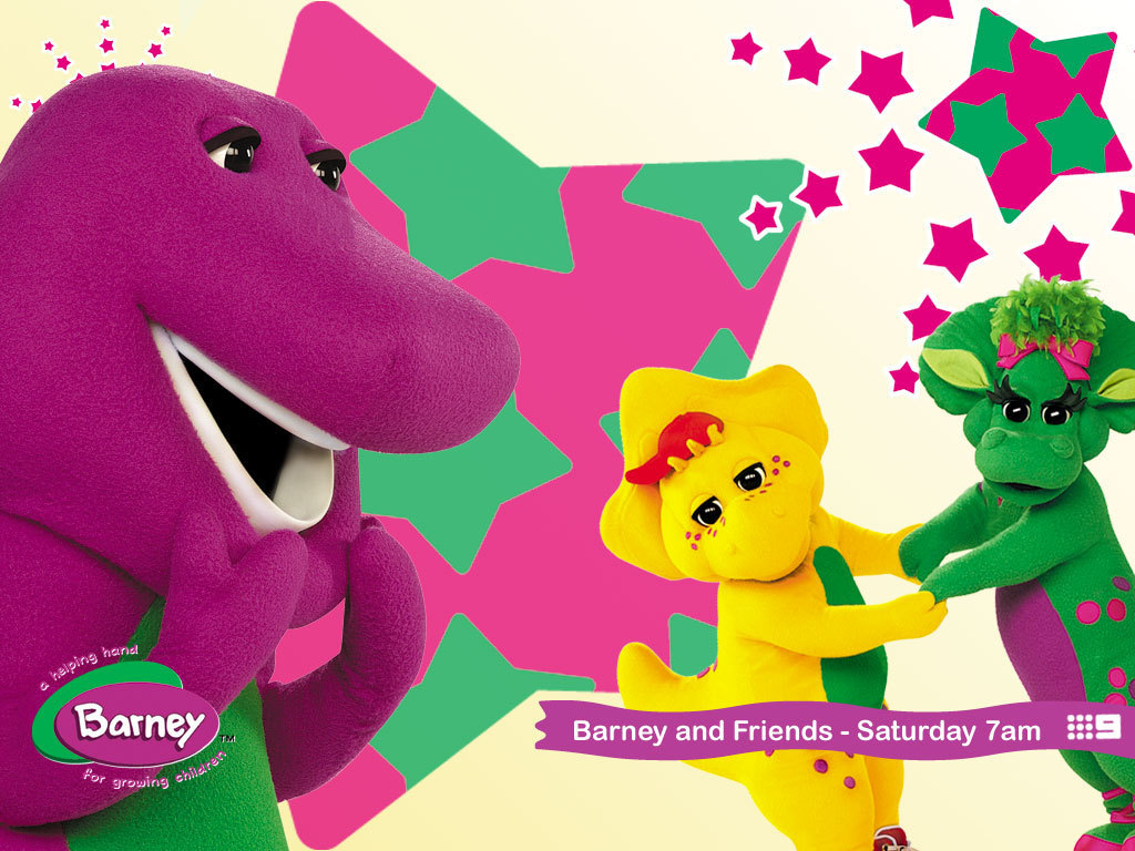 Wallpaper Barney Barney